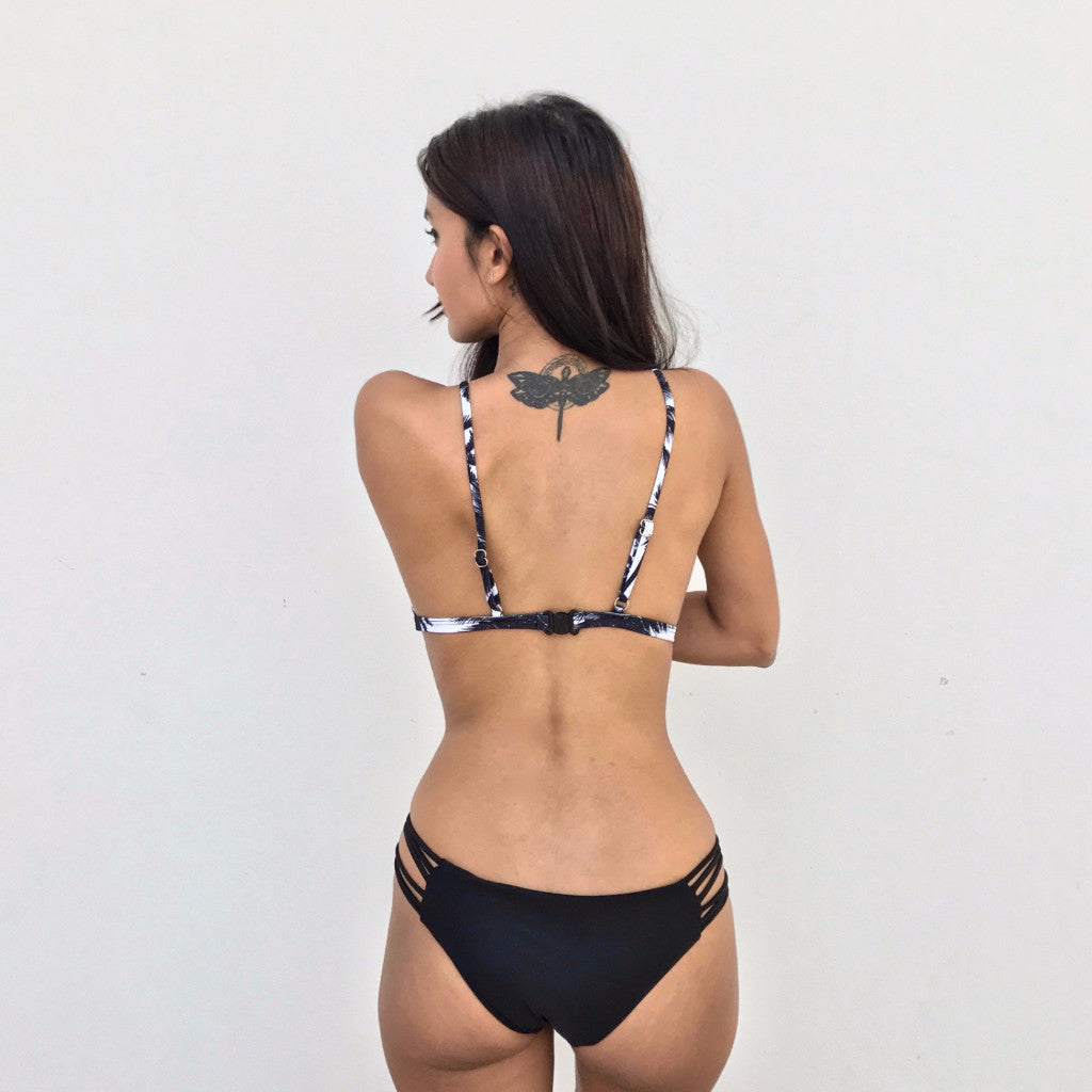 Black Tropical Bikini