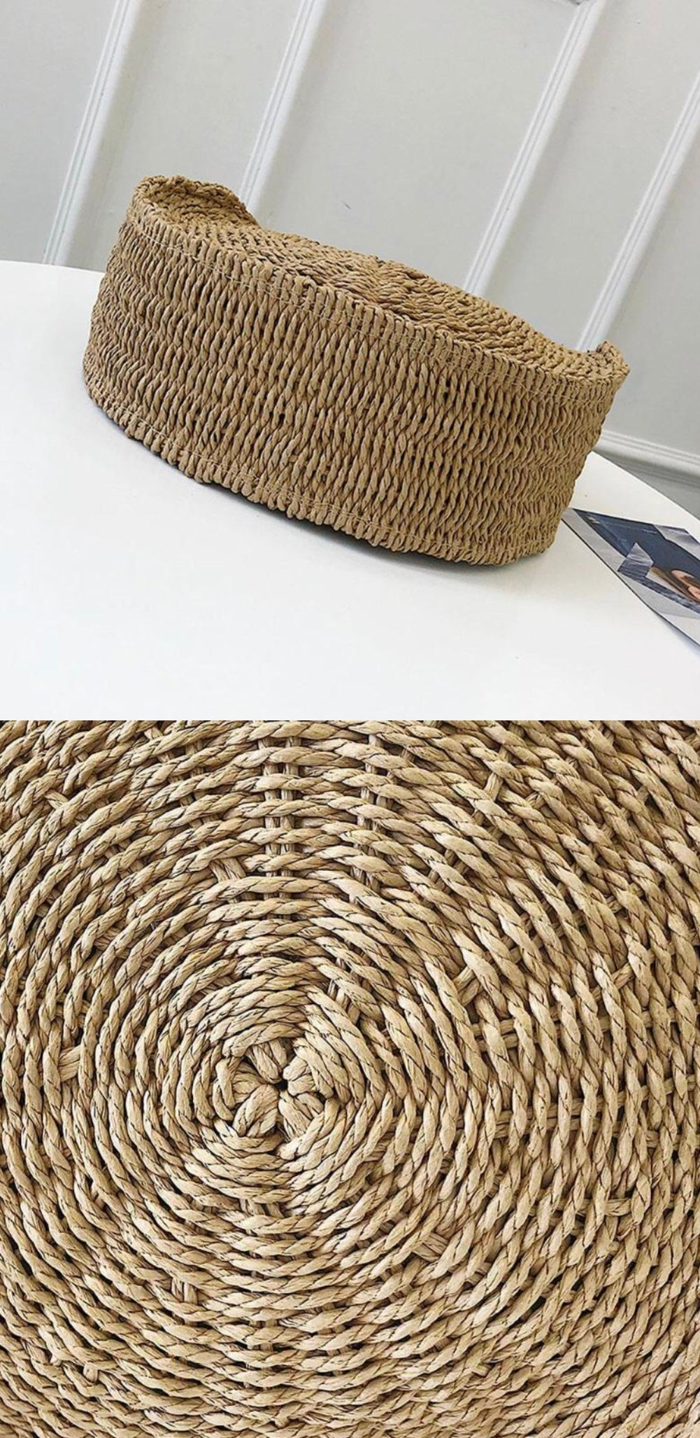 St Tropez Straw Bag