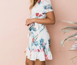 Arden Floral Wrapover Dress