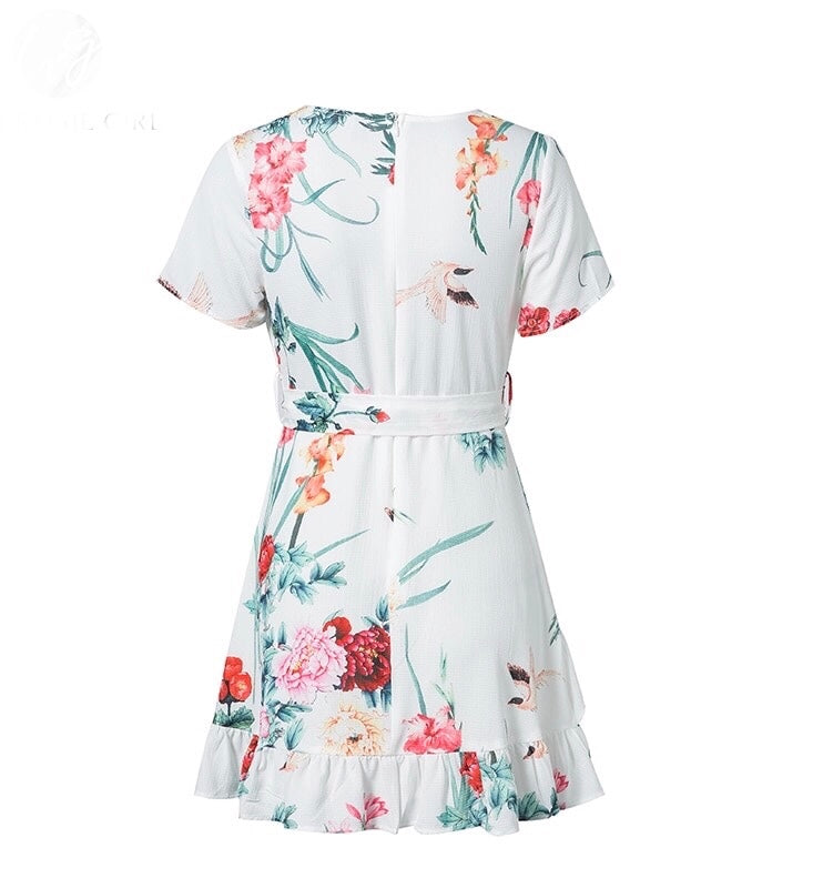 Floral Wrapover Dress