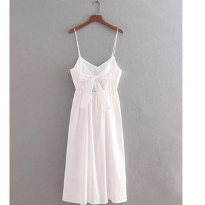 Knot Back White Dress