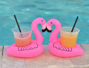 Set of 3 Flamingo Cup Holder Float