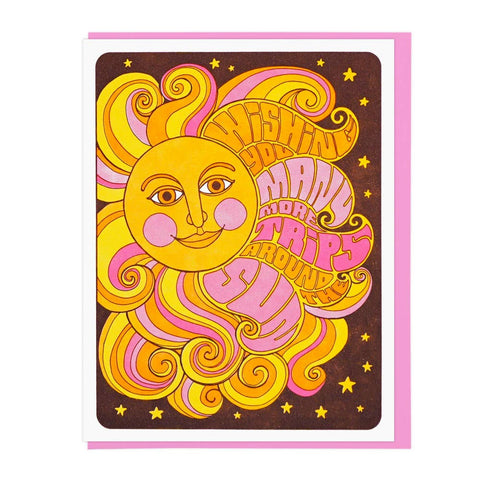 TRIPS AROUND SUN BIRTHDAY CARD