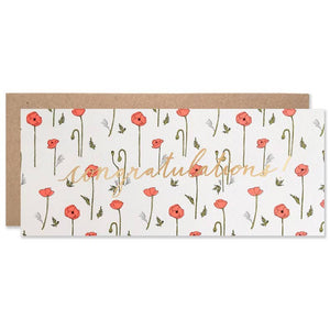 Celebration / Red Poppy Congratulations Card