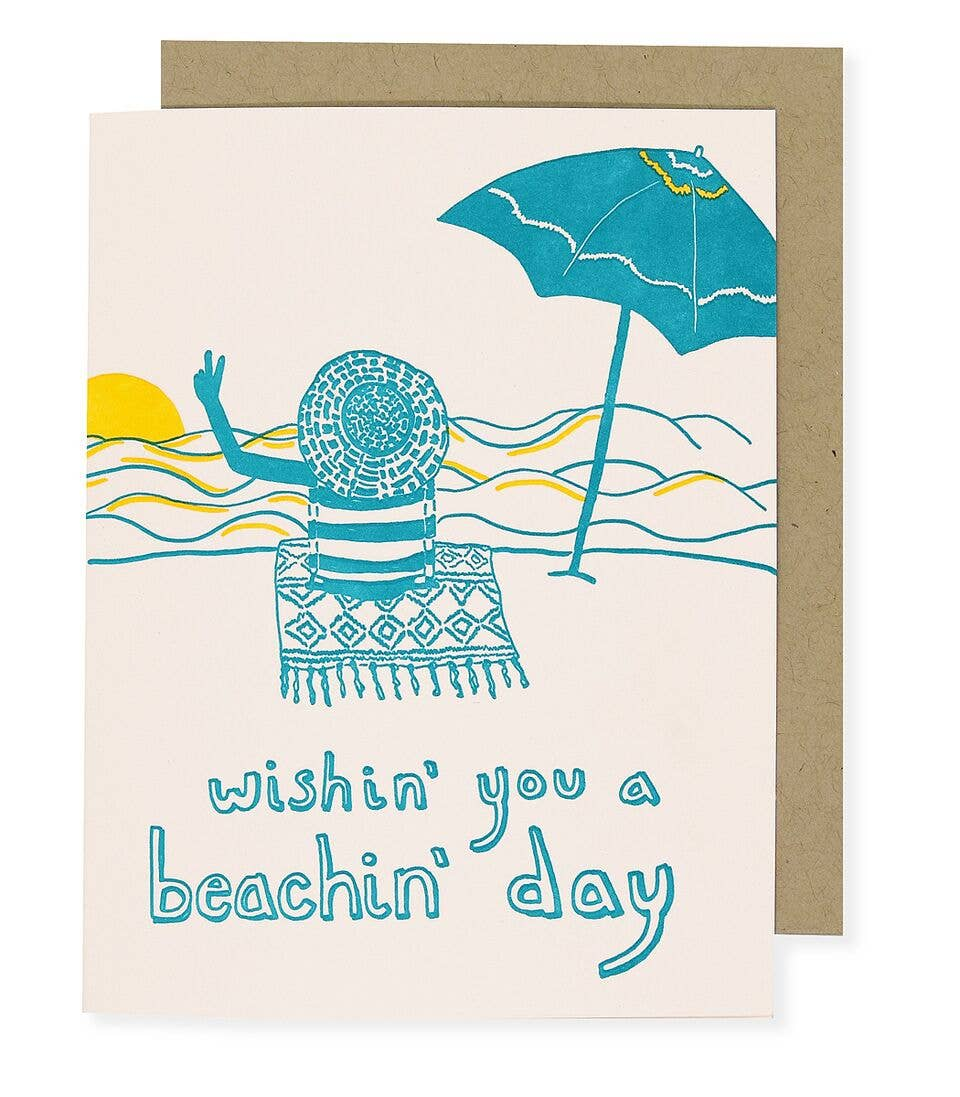 BEACHIN' GREETING CARD