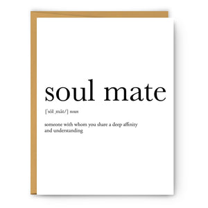 Soul Mate Definition - Greeting Card