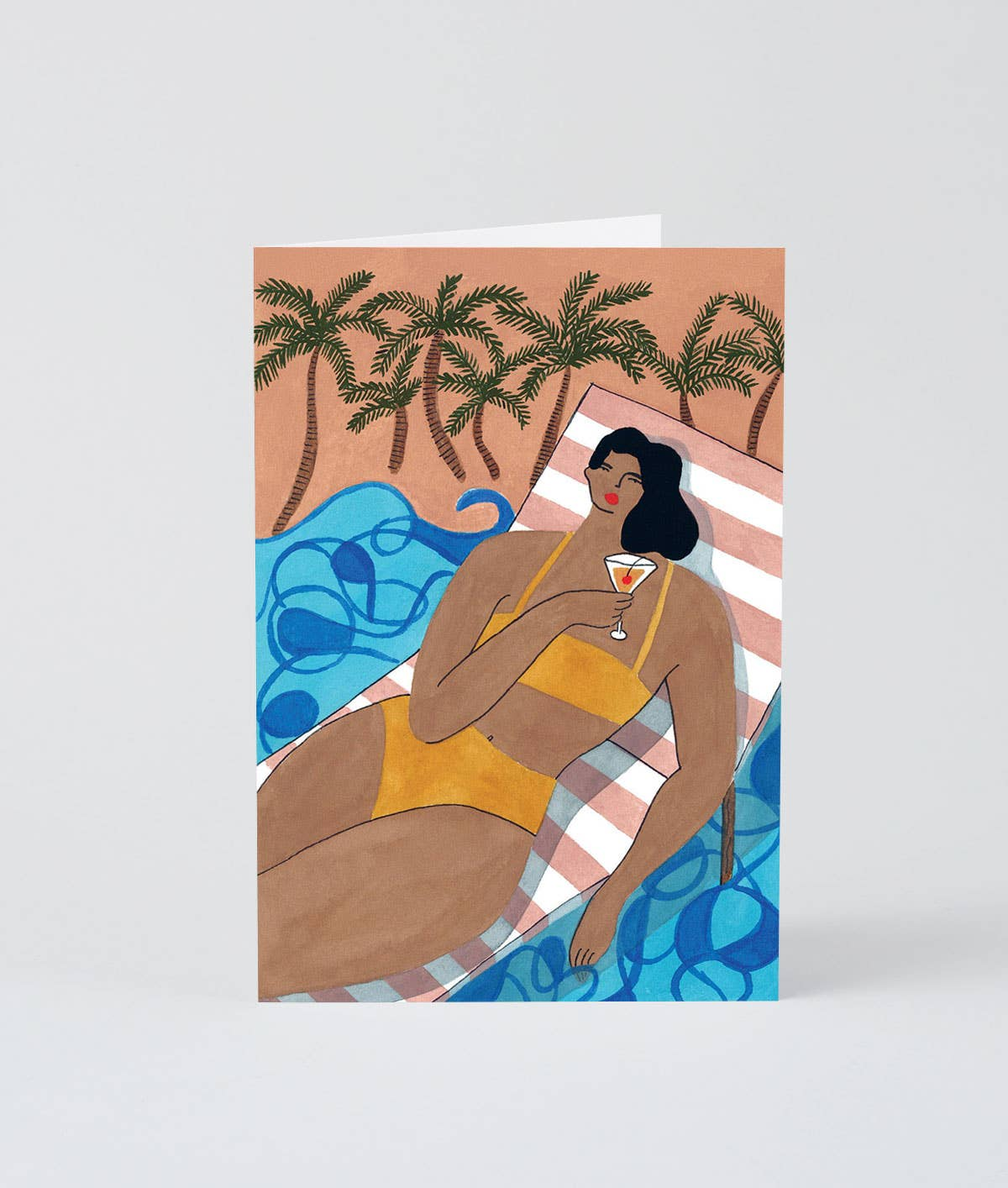 BEACH COCKTAIL BLANK CARD