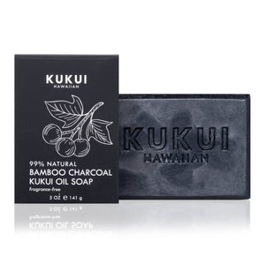 BAMBOO CHARCOAL KUKUI OIL SOAP BAR