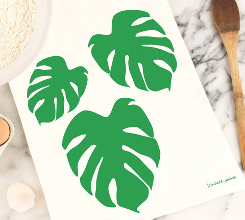 Monstera Leaf Tea Towel
