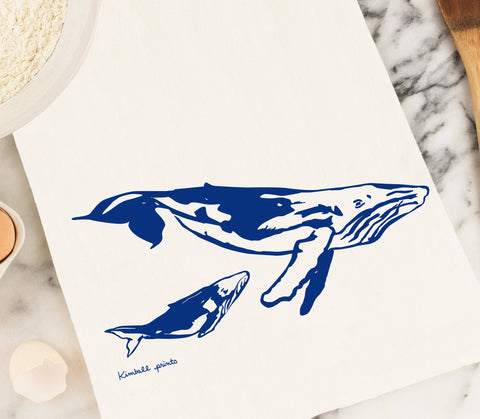 Whales Tea Towel