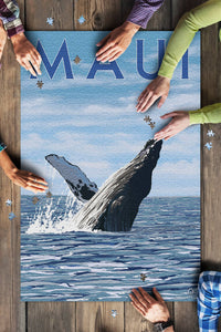1000 Piece Puzzle - Maui, Hawaii, Humpback Whale