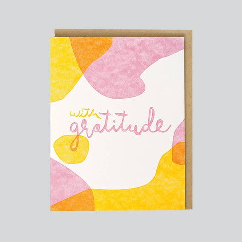 WITH GRATITUDE GREETNG CARD