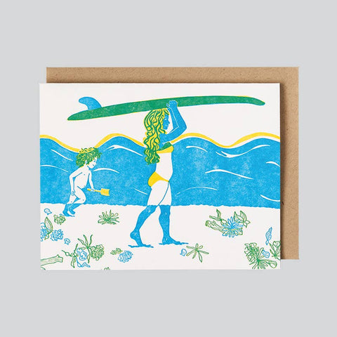 SURF MAMA GREETING CARD