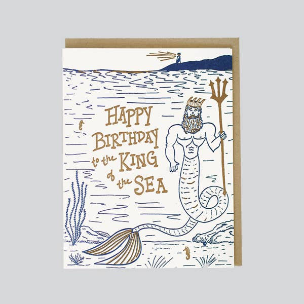 KING OF SEA BIRTHDAY CARD