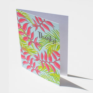 Thanks Heliconia Flower Card