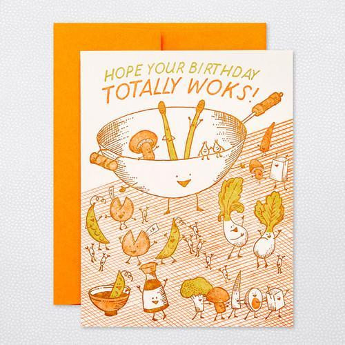 Hope Your Birthday Totally Wok's Card