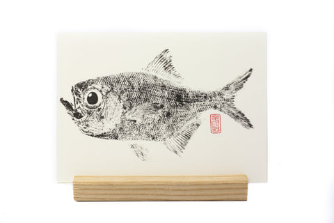 GYOTAKU CARD FISH PRINT
