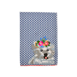 WESTY HIGHLAND TERRIER TEA TOWEL 19 x 27""