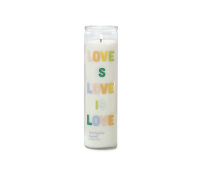 LOVE IS LOVE PRAYER EUCALYPTUS SANTAL CANDLE LARGE