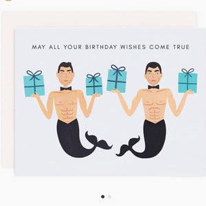 MERMEN BIRTHDAY CARD