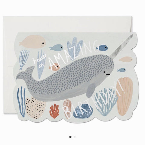 AMAZING NARWHAL BIRTHDAY CARD
