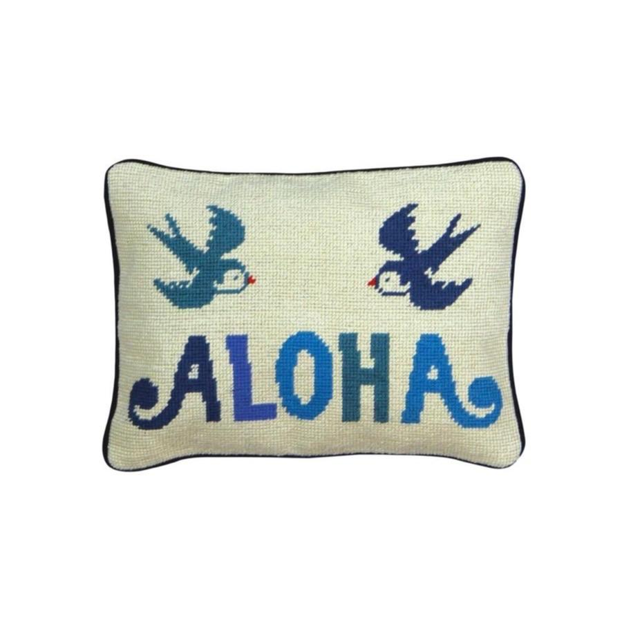 Aloha Needlepoint Pillow