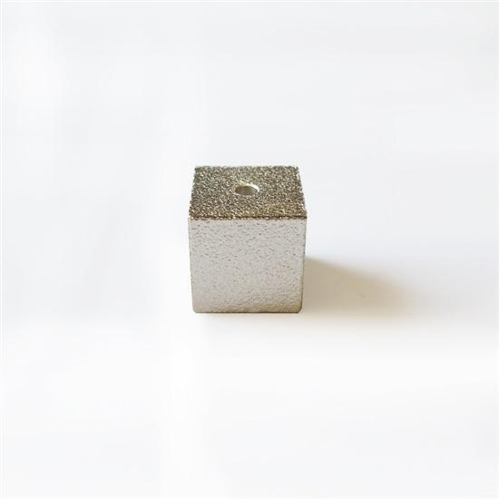 SILVER CUBE TINY INCENSE HOLDER
