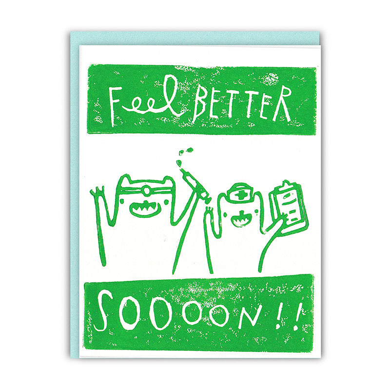 Feel Better Soon Bears Card