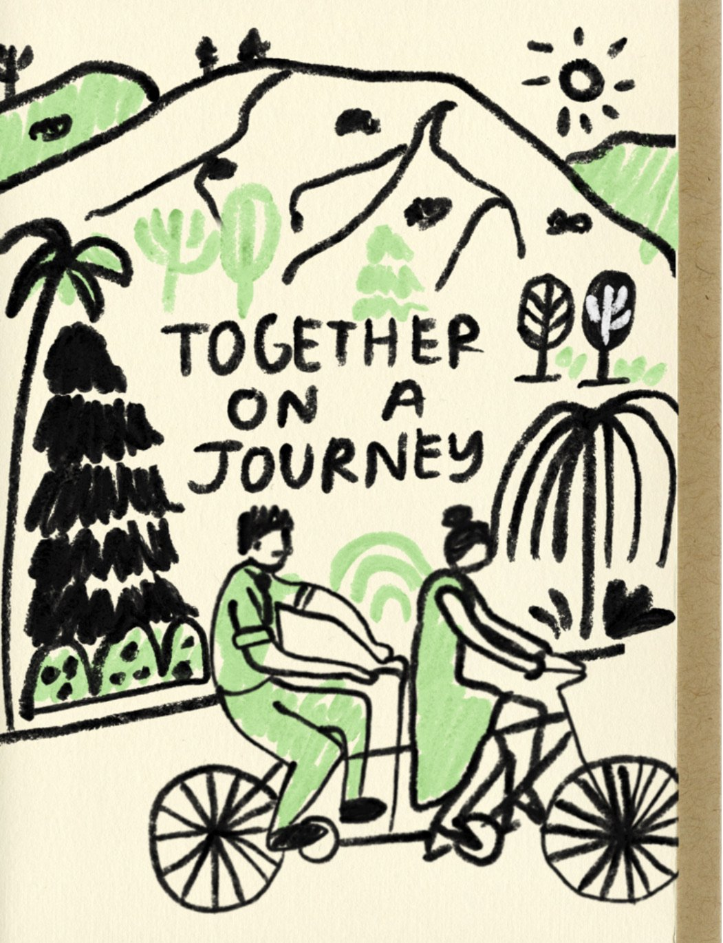 TOGETHER ON A JOURNEY CARD