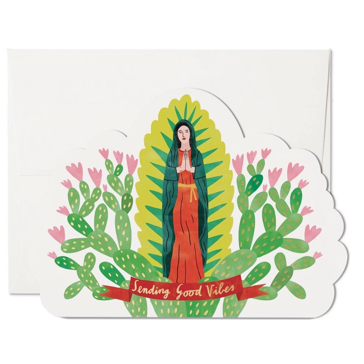 SENDING GOOD VIBES BLESSED MOTHER CARD