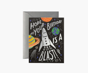 Rocket Blast Birthday Card