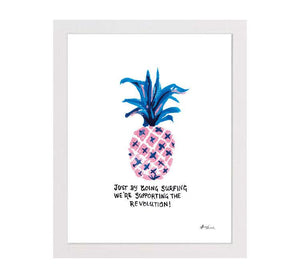 REVOLUTION PINEAPPLE MATTED PRINT