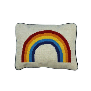 Rainbow Needlepoint Pillow