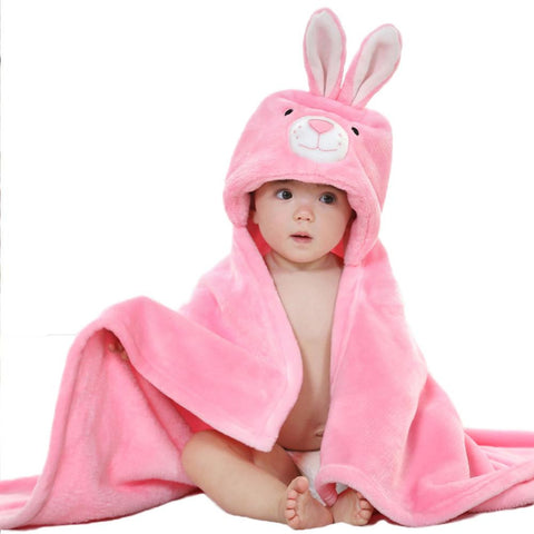 Cutie Animals Hooded Baby Towel