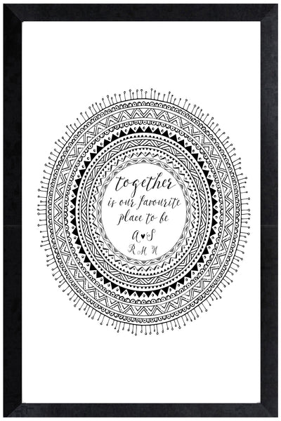 Print - together mandala