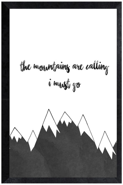 Print - the mountains are calling