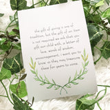 Words of Wisdom Keepsake Box - wreath