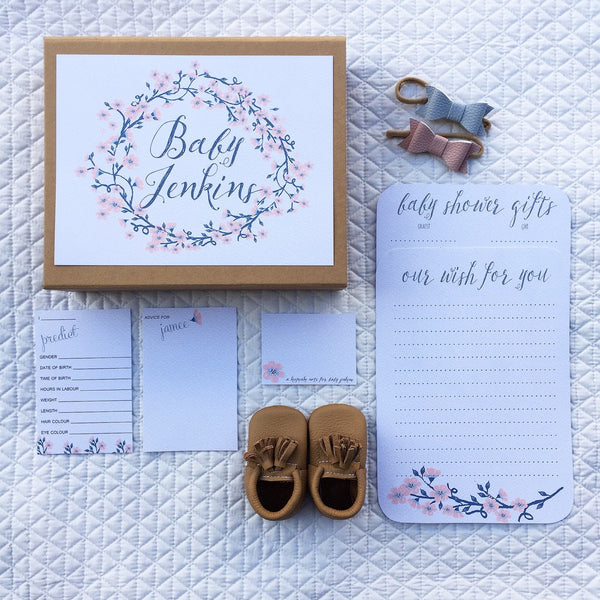 The Baby Shower Keepsake Box - dainty floral