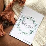 Boho Baby Book - natural evergreen