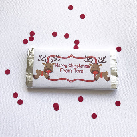 Christmas - Chocolate Bar - reindeer