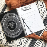 Book - boho pregnancy journal monochrome