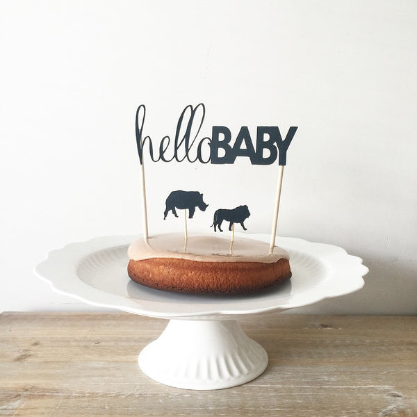 Cake Topper - hello baby