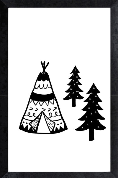 Print - teepee in the trees