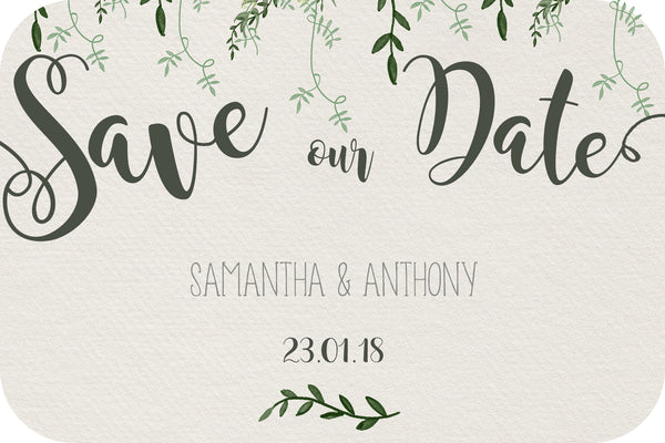 Wedding - Save the Date Cards - vine