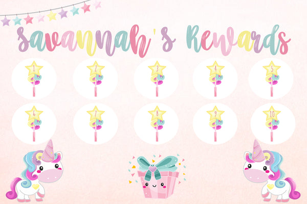 Reward Chart - unicorn - coming soon