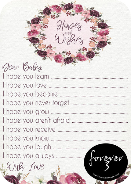 Baby Shower - hopes and wishes for baby - bloom