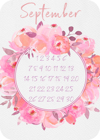 Calendar Month - beautiful bloom