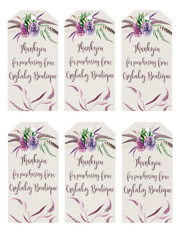 Gift Tags - Botanical