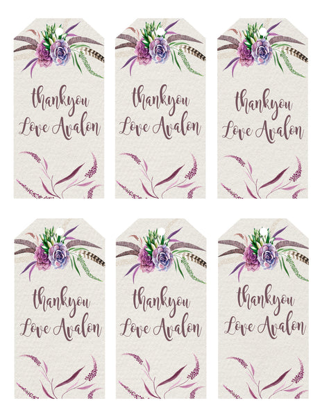 Party - botanical gift tags