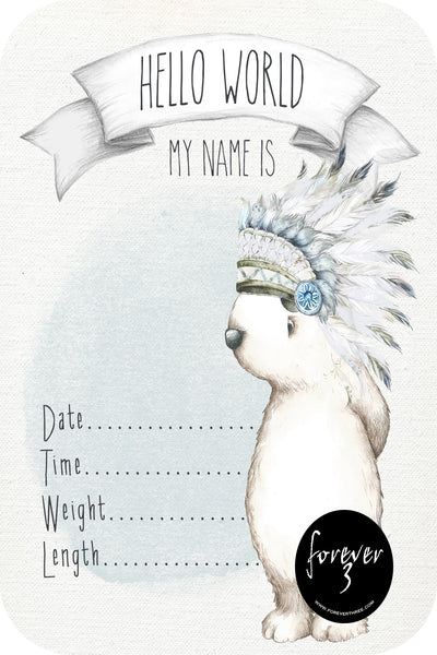 Announcement Card - chief bear